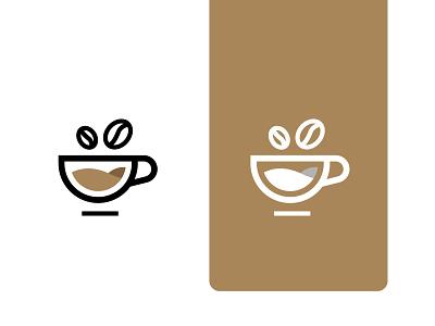 Coffee Cup logo icon coffe bean branding business logo minimal logo mug cup coffee