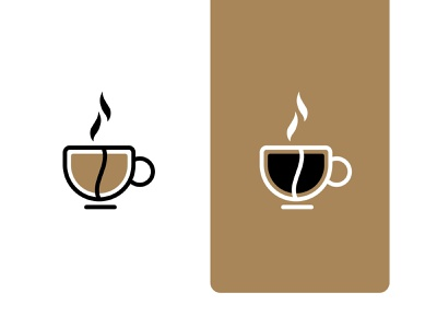 Coffee Cup and Coffee bean branding logo bean mug cup coffee