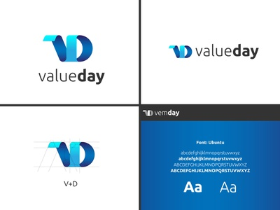 ValueDay Modern Logo 3d branding gradient modern logo inspiration business logo