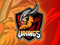 Mascot sports logo VIKINGS