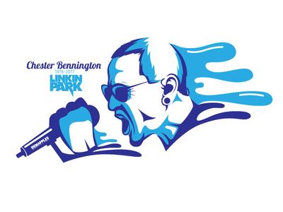 Chester Bennington RIP vector design illustration lead singer song music rock band linkin park legend rip chester bennington
