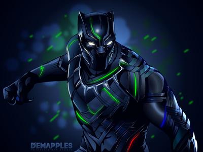 Black panther 2018 chadwickboseman vector design illustration disney superhero comics marvel 2018 blackpanther