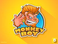 Monkey Boy Mascot Logo