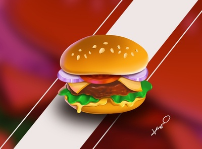 Burger digital drawing