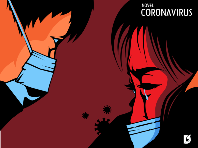 Novel Coronavirus China patients illustration vaccine tragedy health mask disease virus china novel