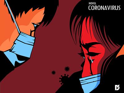 Novel Coronavirus China patients illustration vaccine tragedy health mask disease virus china novel