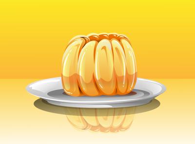Mango Jelly Realistic Illustration