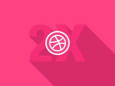 Dribble Invites dribbble invite pink long shadow contest giveaway join welcome invitation invite add