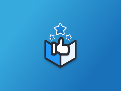 Product Recommendations Icon app icon logo products recommend recommendations package box stars thumbs up app icon