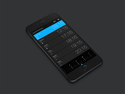 Synchronize app ux ui time ios iphone