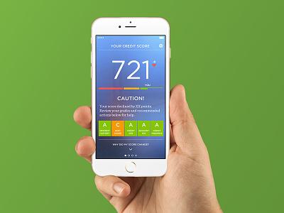 Credit.com iOS App credit score app ux ui time ios iphone