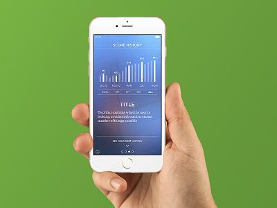 Credit.com iOS App charts credit score app ux ui time ios iphone