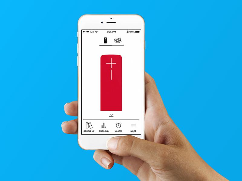 UE Boom App speaker bluetooth music ue boom logictech app ux ui time ios iphone