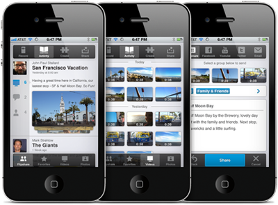 Flip Video iPhone App mobile video ui ux ios