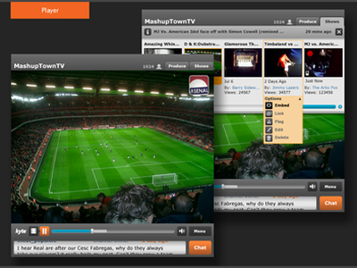 Kyte video player interface web video player ui