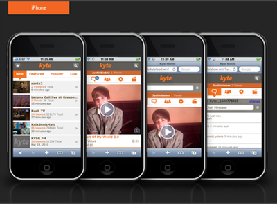 Kyte iOS app ios mobile ui ux