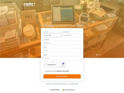 Cashr - sign up android ios app mobile cash register sign up
