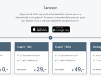 Cashr pricingpage