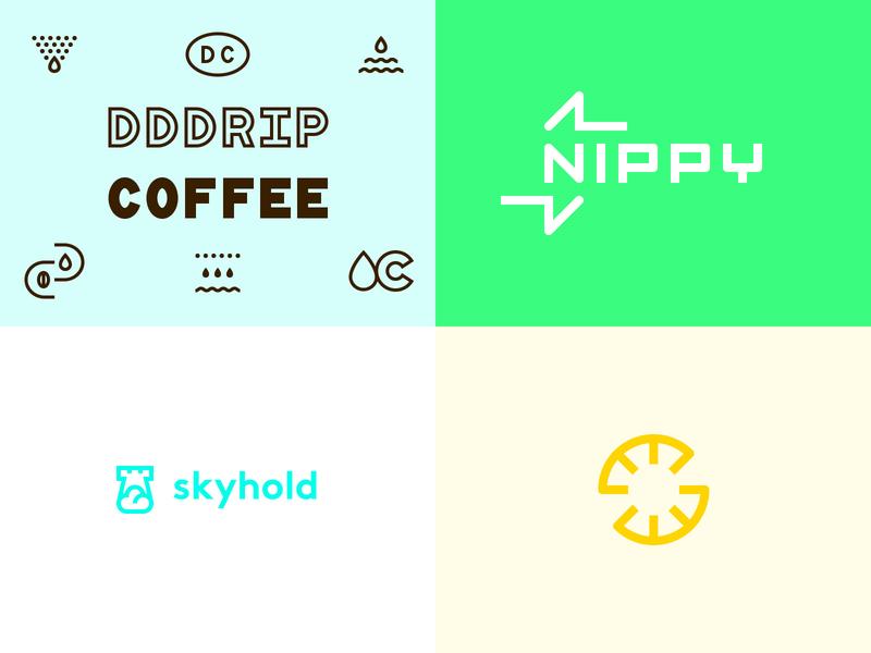 2018 Top 4 ui app type logotype 2018 geometric monoline minimal sun cloud startup tech arrow monogram coffee identity branding symbol mark logo