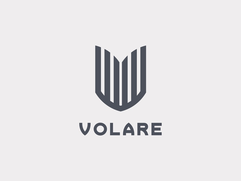Logo Volare dribbble grid layout graphic design symbol design brand logo design geometric logo branding