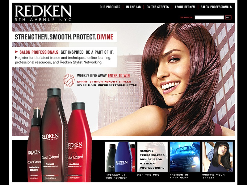 Hair Product E Commerce Web Site Concepts By Tracy A Toepfer