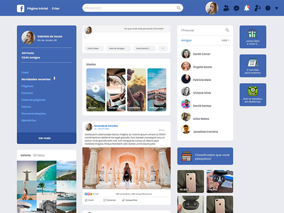 facebook ui design