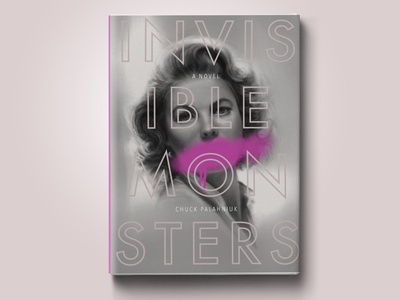 Invisible Monsters Book Cover monsters invisible palahniuk publishing procreate book cover book portrait