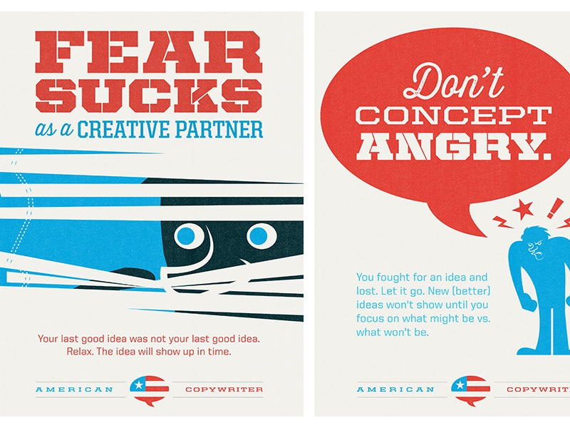 American copywriter posters