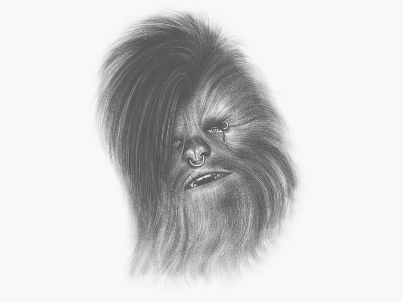 Angsty Chewbacca alien hair nose ring piercing star wars starwars chewie angst wookiee chewbacca