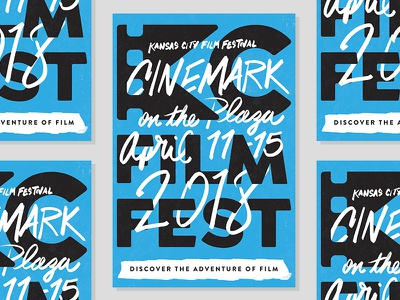 KC Film Fest Poster kyle brush adobe sketch ipad type handwritten hand drawn festival poster kc film