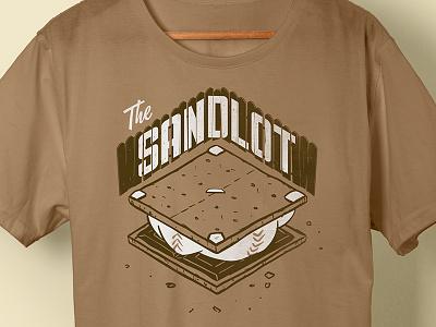 The Sandlot T-Shirt cracker graham shirt fence chocolate marshmallow smores baseball movie sandlot