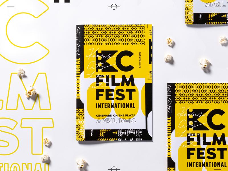 KC Film Fest Program movies popcorn design brochure program kansascity film festival film