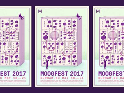 Moogfest vector texture poster purple illustration eurorack moog modular synth synth
