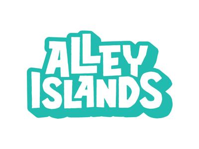 Alley Islands Logo island lettering type logo