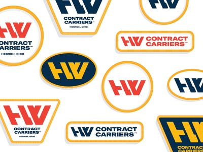 H&W Logo Patches branding patches monogram logo trucking freight