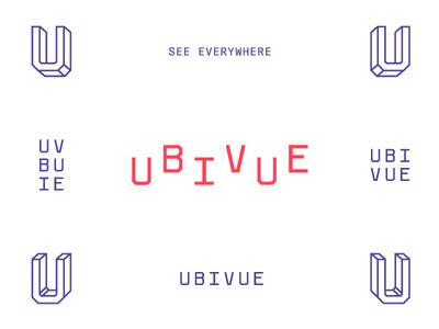 Ubivue ubivue video 360 lettering type perspective mark logo