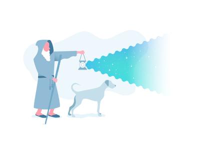 Diogenes illustration dog philosophy digenes