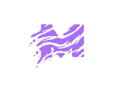 Drop cap M lettering illustration dropcap