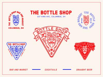 Bottle Shop Badges floral booze illustration badge