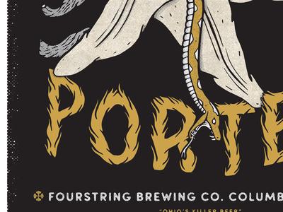 Fourstring Brewing Poster WIP flower vanilla ohio columbus snake beer