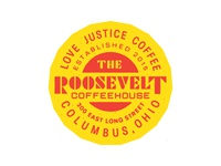 Roosevelt Coffeehouse 3 Year Anniversary badge