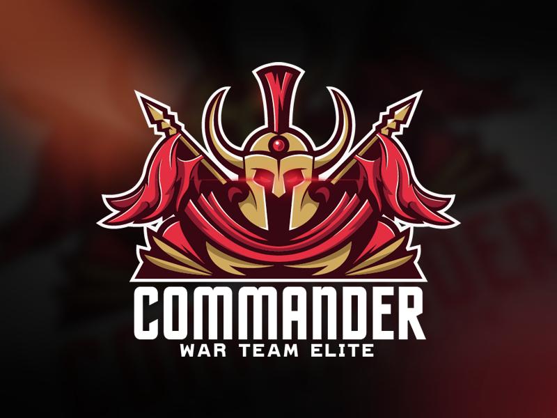 Commander Logo team warrior sports spartan sparta mascot logo knight gaming esports legion commander