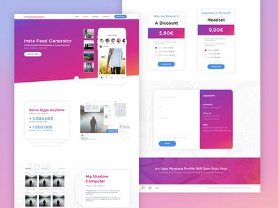 Insta Tool landing gradient digital web responsive desktop-layout frameworks foundation tool webdesing layout instagram