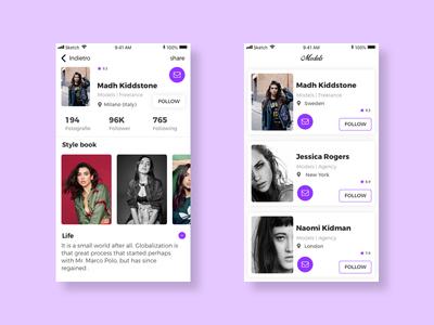 Fashion App android ios flat style minimal app mobile web design design mobile ui ux layout app
