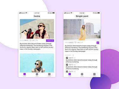 Fashion App Project re-design android ios responsive fashion web design design mobile ui ux layout app