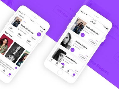 Fashion in App web ux ui minimal layout ios style flat design mobile app android