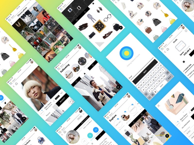 UI fashion project android ios startup socialapp color social fashion layout ux appdesign webdesign ui
