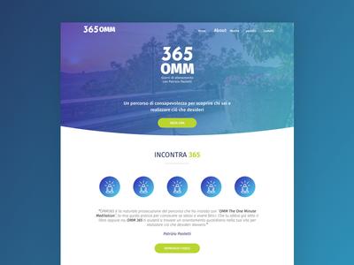 365 OMM desiginspiration webdesig ui ux sketch sass responsive design layout design html desktop boostrap brand blue