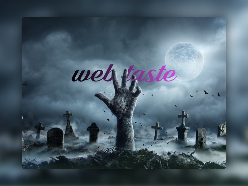 Happy Halloween darkmode nightmare zombie web desgin ui-ux happy comingsoon promo site layout web taste halloween design