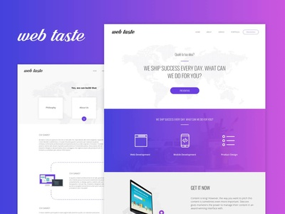 Web Taste 2019 web design agency landing new site color mobile app responsive layout design boostrap wordpres sass html 5 web desgin